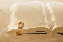 Loss of faith forgotten words of Bible. Religion concept Royalty Free Stock Images