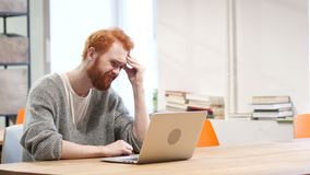 Loss, Frustrated Man Working on Laptop. Young creative designer , good looking stock footage