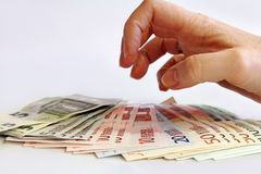 Loss of money Stock Image
