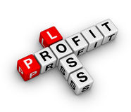 Loss and profit. Crossword puzzle Royalty Free Stock Photos