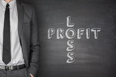 Loss & profit on blackboard Royalty Free Stock Photography