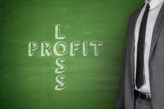 Loss & profit on blackboard Royalty Free Stock Photo