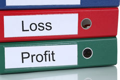 Loss and profit in company business concept Stock Photos