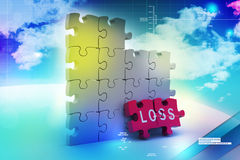 Loss in puzzle piece Stock Image