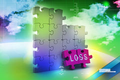 Loss in puzzle piece Royalty Free Stock Image