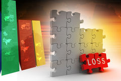 Loss in puzzle piece Stock Photo