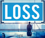 Loss Recession Deduction Financial Crisis Concept Stock Images