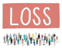 Loss Recession Deduction Financial Crisis Concept Stock Photography