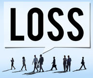 Loss Recession Deduction Financial Crisis Concept Stock Photo
