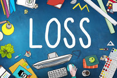 Loss Risk Debt Economy Finance Concept Royalty Free Stock Images