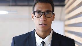 Loss, Unfortunate Black Businessman Failure, Portrait Stock Image