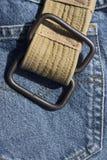 Losse riem fot jeans Stock Foto