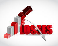 Losses graph illustration design Stock Photo