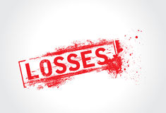 Losses grunge text Royalty Free Stock Image