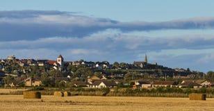 Lossiemouth efter skörd. royaltyfri fotografi