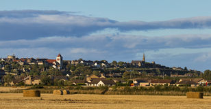 Lossiemouth after harvest. Royalty Free Stock Photography