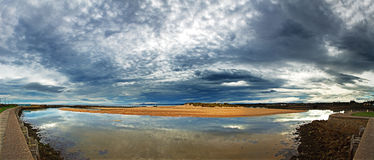 Lossiemouth pano Stock Photo