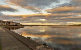 Lossiemouth solnedgång arkivfoton