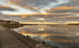 Lossiemouth-Sonnenuntergang Stockfotos