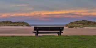Lossiemouth-Sonnenuntergangssitz. Lizenzfreie Stockbilder