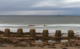 Lossiemouth spöklika vågor arkivfoto