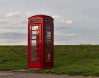 Lossiemouth strandtelefon. royaltyfri bild
