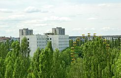 Lost and abandoned city Pripyat stock photo