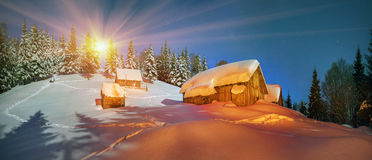 Lost alpine village Royalty Free Stock Photography