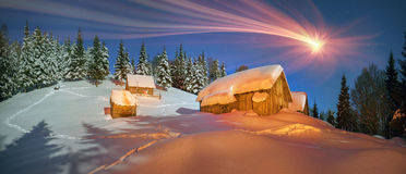 Lost alpine village Royalty Free Stock Images
