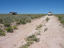Lost in Arizona. Driving on a dirt road, trying to find Havasu Canyon Royalty Free Stock Images