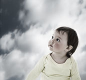Lost baby Royalty Free Stock Photo