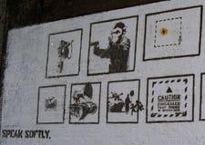 Lost Banksy art. Shoreditch lost Banksy royalty free stock photos