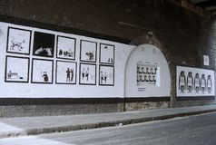 Lost Banksy art. Shoreditch lost Banksy Stock Photography