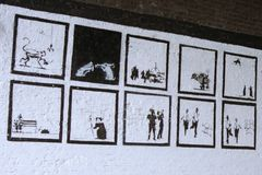 Lost Banksy art. Shoreditch lost Banksy Royalty Free Stock Image