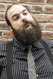 Lost Bearded Man Royalty Free Stock Photo