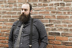 Lost Bearded Man Royalty Free Stock Images