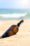 Lost bottle royalty free stock images