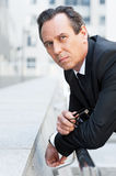 Lost in business thoughts. Stock Photography