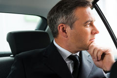 Lost in business thoughts. Stock Photo