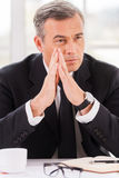Lost in business thoughts. Royalty Free Stock Photography