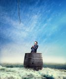 Lost Businessman Royalty Free Stock Images