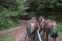 The Lost Canyon is a Hidden Gem of the Wisconsin Dells with Hors stock photo