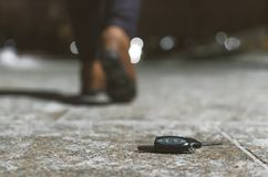 Free Lost Car Keys. Stock Photo - 132658860