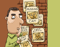 Lost Cat Posters Royalty Free Stock Photo