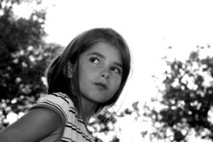 Lost Child. Young girl looking lost or alone, scared Stock Images