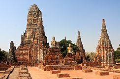 Lost city. Ancient capital of Thailand Ayutthaya Royalty Free Stock Image