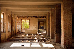 Lost city. Abandoned construction Stock Image