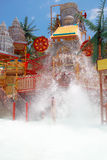 Lost city attraction in the water park Royalty Free Stock Photos