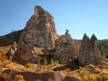 Lost City in Cappadocia. Lost city of Uchisar in Cappadocia, Turkey Stock Image