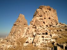 Lost City in Cappadocia. Beautiful ruins of a lost city in Cappadocia Royalty Free Stock Image